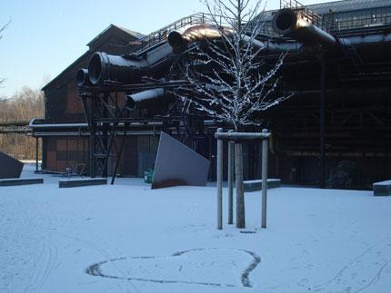 Industrieschnee Jahrhunderthalle Westpark Bochum