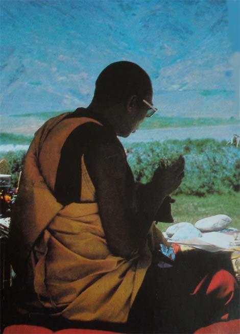 Dalai Lama, spirituelles und politisches Oberhaupt des tibetischen Volkes