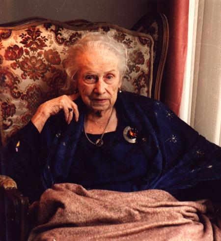 Olga von Ungern-Sternberg im Alter von 94 Jahren