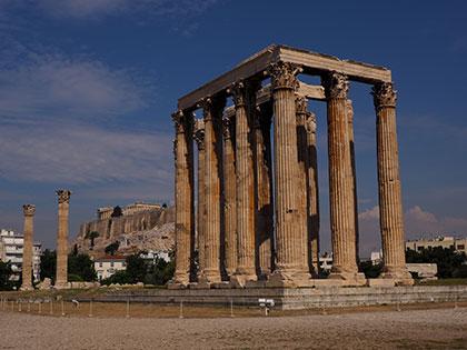 Tempel des Zeus-Jupiter in Athen