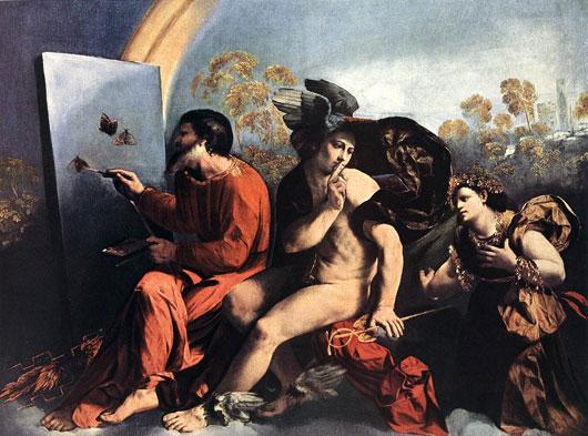 Dosso Dossi Jupiter, Merkur und die Tugend