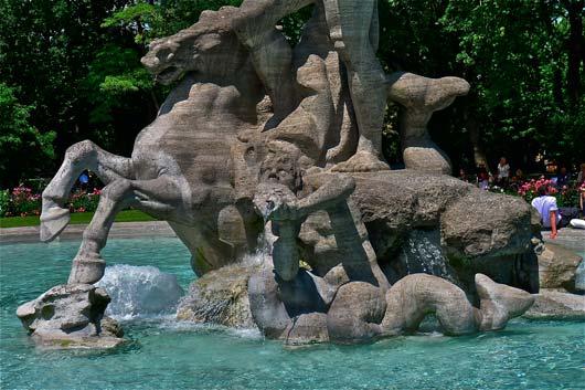 Neptunbrunnen in München-Detail