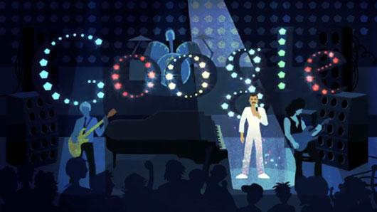 Google-Doodle zu Ehren von Freddie Mercurys Geburtstag