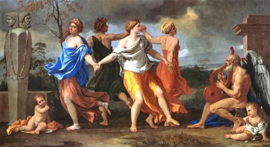 Nicolas Poussin Tanz des Lebens
