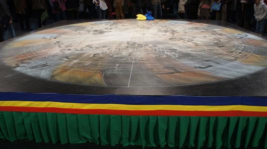 Zeremonie Zerstörung Mandala Jahrhunderthalle Bochum
