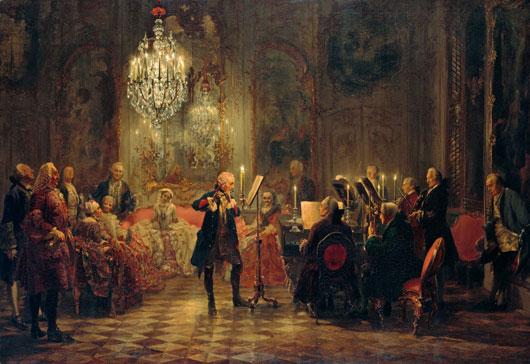 Adolph Menzel Flötenkonzert Friedrich der Große Sanssouci