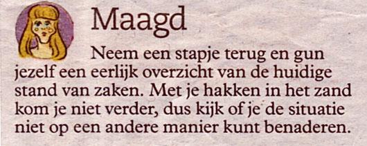 Maagd - Tierkreiszeichen Jungfrau in Holland