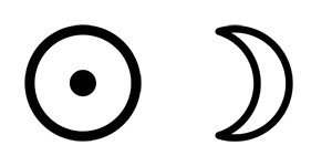 Astro-Symbol Sonne Mond
