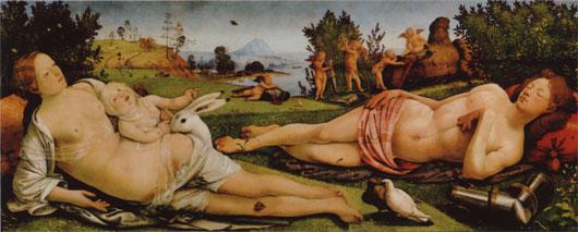 Piero di Cosimo- Venus, Mars und Armor