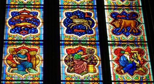Tierkreiszeichen Glasfenster Kölner Dom