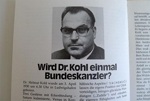 Helmut Kohl Bundeskanzler Astro-Prognose 1973