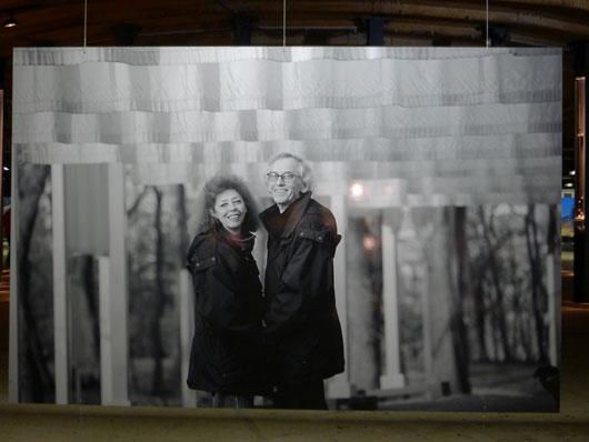 Christo und Jeanne-Claude im Gasometer Oberhausen