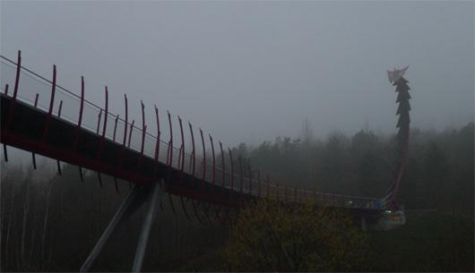 Die Drachenbrücke in Recklinghausen-Hochlarmark