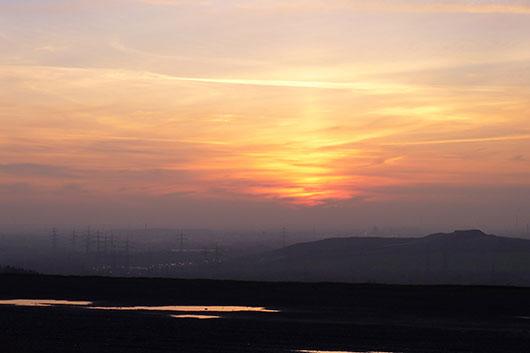 Sonnenuntergang Halde Ruhrgebiet