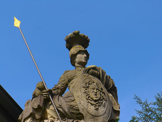 Göttin Athene Schloss Gartrop am Niederrhein