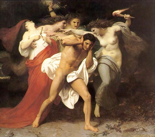 William Adolphe Bouguereau Orest und die Furien