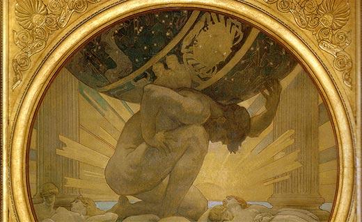 Atlas trägt die ganze Erde